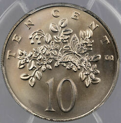 1973-fm Jamaica 10 Cents Pcgs Ms68 Unc Stunning Only 1 Graded Higher Worldwide