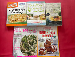 Gluten Free Cooking Magazine And Book Lot Of 5 Simply, Idiots Guide, Cooking,etc