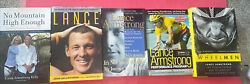 Lot Of 5 Lance Armstrong Biographical Cycling Bicycling Books Wheelman, Raising