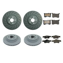 Genuine Front 360mm Rear 320mm Brake Kit Disc Rotor Pad For C207 W212 E550