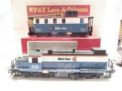 Lgb 72550 - White Pass And Yukon Super Set- Boxed - Loco And Caboose- Exc.
