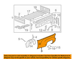 Gm Oem Pick Up Box Bed-outer Panel Right 22875338
