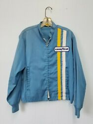Vintage Goodyear Racing Jacket Embroidered Patch On Back Medium