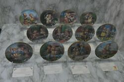 Total12 The M.j. Hummel Collector Plates Lot