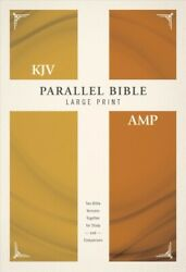 Parallel Bible King James Version, Amplified, Large Print, Red Letter Editi...