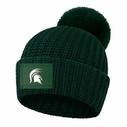 Michigan State Spartans Love Your Melon Women's Cuffed Pom Knit Hat - Green