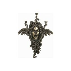 Medusa Wall Candle Holder Statue Greek Mythology Veronese Sculpture 19.65 Inches