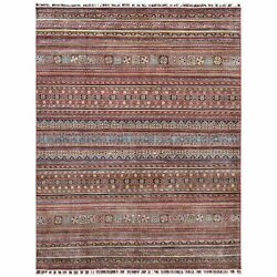 9and0391x11and0399 Red Super Kazak Design Hand Knotted Pure Wool Oriental Rug R61126