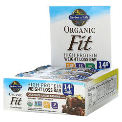 Garden Of Life High Protein Weight Loss Bar, Chocolate Almond, 12 Bars, 1.9 Oz
