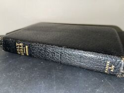 Vtg Holy Bible Eyre And Spottiswoode Genuine Morocco Leather Lined Rare Nice