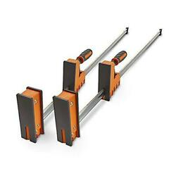 2 Pack Of Woodworking Clamps With Rock-solid Even 50 Parallel Clamp Set