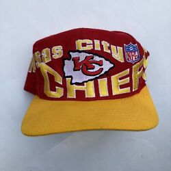 1990s Kansas City Chiefs Apex One 1 Pro Line Hat Snapback Rolling Letters Red