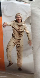 High Quality Halloween Fun Adult Small Egyptian Mummy Monster Costume Jumpsuit