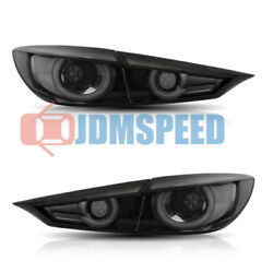 Smoke Led Tail Lights W/ Sequential Turn Sig. Fits For Mazda 3 Sedan 2014 - 2018