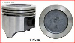 Single Piston Fits Gm Olds 5.0l 307 Round Dish Top - P1551