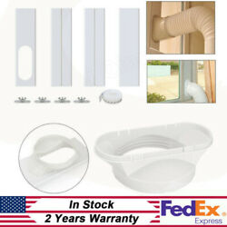 White Portable Air Conditioners Window Vent Kit Air Conditioning Baffle Set Pvc