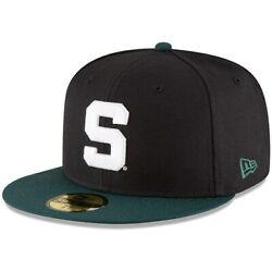 Michigan State Spartans New Era Ncaa Basic 59fifty Gcp Fitted Hat - Black/green