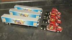 Dcp Parts Lot Of 4 Trucks And 3 Trailers For Custom Built Truck Modeland039s 164/