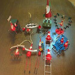 Christmas Super Handmade For The End Of Production Tin Toy Make Santa Claus