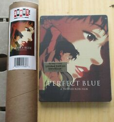 Perfect Blue 1997 New Sealed Blu Ray/dvd Steelbook And Poster