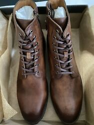 Frye Men's Leather Bowery Lace-up Boots Brown Cognac