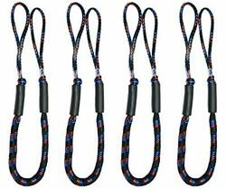 Bungee Boat Dock Lines 4 Feet Colourful Dockline Mooring Rope Boat Accessorie...