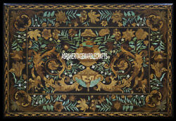 Gorgeous Marble Top Dining Table Marquetry Scagliola Inlay Art Patio Decor H3978
