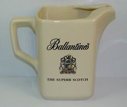 Ballantineand039s Scotch Whisky Jug Wade Pottery Vintage Advertising Pitcher Bar Ewer