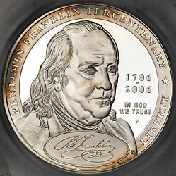 2006-p Franklin Founding Father Dollar Icg Pf70 Dcam First Strike Coin 124/490