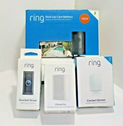 Lot Of 4 Ring Wired Doorbell Chime Window Sensor Exterior Wireless Camera New