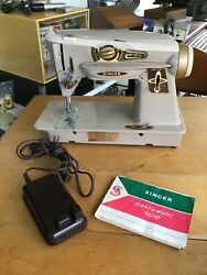 Singer 500a Rocketeer Sewing Machine And Pedal As Is For Parts Or Repair