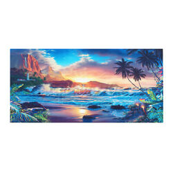 Sunset Sea Beach Modern Art Canvas Print Painting Wall Picture Home Room Decor
