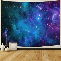 Galaxy Tapestry Blue Starry Sky Tapestry Home 3D Cosmic Galaxy Living Room
