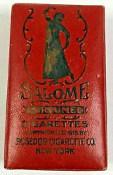 Salome Egyptian Perfumed Cigarettes Vintage Box Package Rosedor Cigarette Co Ny