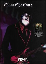 Billy Martin Good Charlotte 2003 The Young And The Hopeless Prs Guitar Ad Print