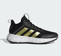 Mens Adidas Own The Game 2.0 Basketball Shoes Size 11.5 Black Gold Sneakers