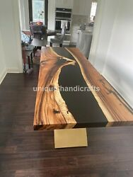 Rectangle Epoxy Resin River Dine Center Top Table Wooden Working Arts Furniture