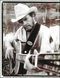 Merle Haggard Vintage Martin 00-45 Acoustic Guitar Classic B/w Pin-up Photo