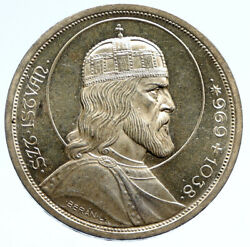1938 Hungary King Saint Stephan Vintage Old Silver 5 Pengo Hungarian Coin I96070