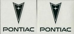 2x PONTIAC 4quot; Black Decals Stickers for Cars Toolbox Windows Racing...