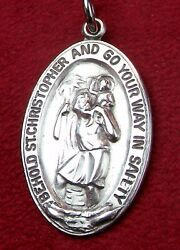 Wwii Chaplain James Hugh O'neill Collection Sterling Silver St Christopher Medal