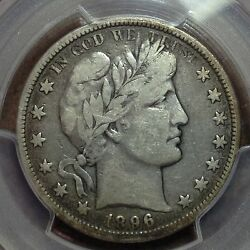 1896-o Pcgs F-15 Barber Half Dollar Lity Most Of Ber Nice Coin Tough Date