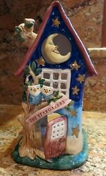 Blue Sky Clayworks By Heather Goldminc Stargazers Candle House Large New
