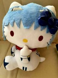 Hello Kitty X Evangelion Rei Ayanami Plush Doll With Bag For Wrapping Sega Used