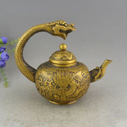 Collect Antique Brass Silver-plated Kettles With Dragon Hand To Hold The Teapot