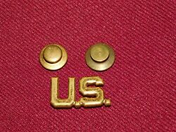 Vintage Meyer Nyc I Army Military Us Collar Brass Pin