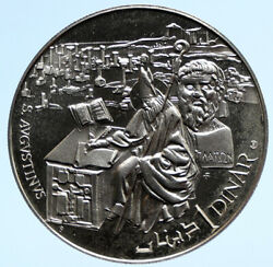 1969 Tunisia History Saint Augustine Vintage Old Proof Silver Dinar Coin I96135