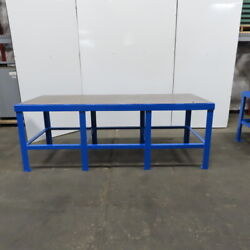 36 X 96 X 35 Tall 1 Thick Steel Top Work Assembly Fabrication Welding Table