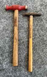 Vintage Pair Of Hammers Wooden Handle - Tack Hammer And Double Side