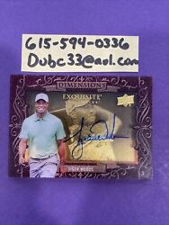 Tiger Woods 2013 Ud Exquisite Collection Dimensions Shadowbox Autograph Auto Wow